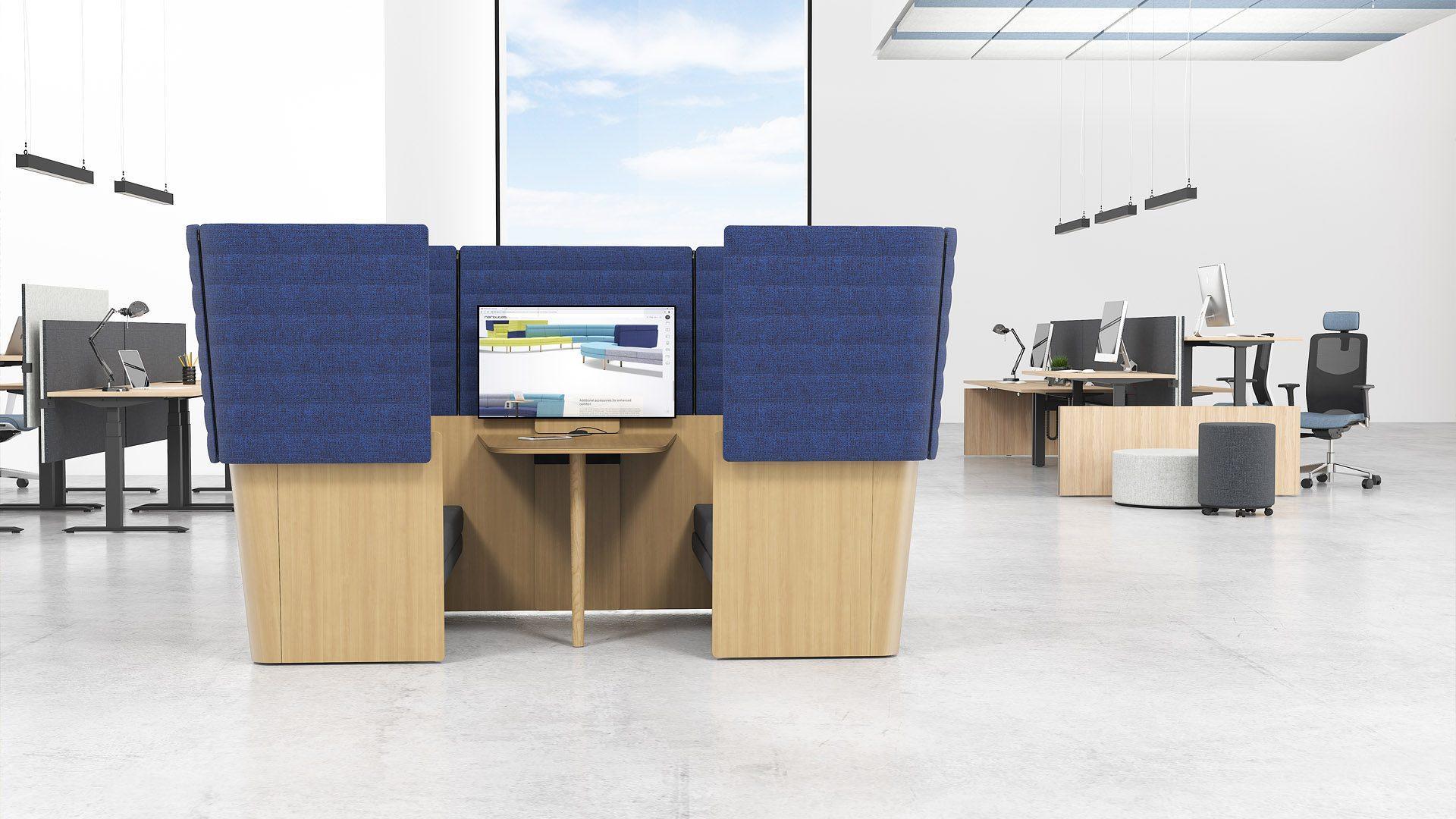 Biroja mēbeles atvērta tipa birojiem