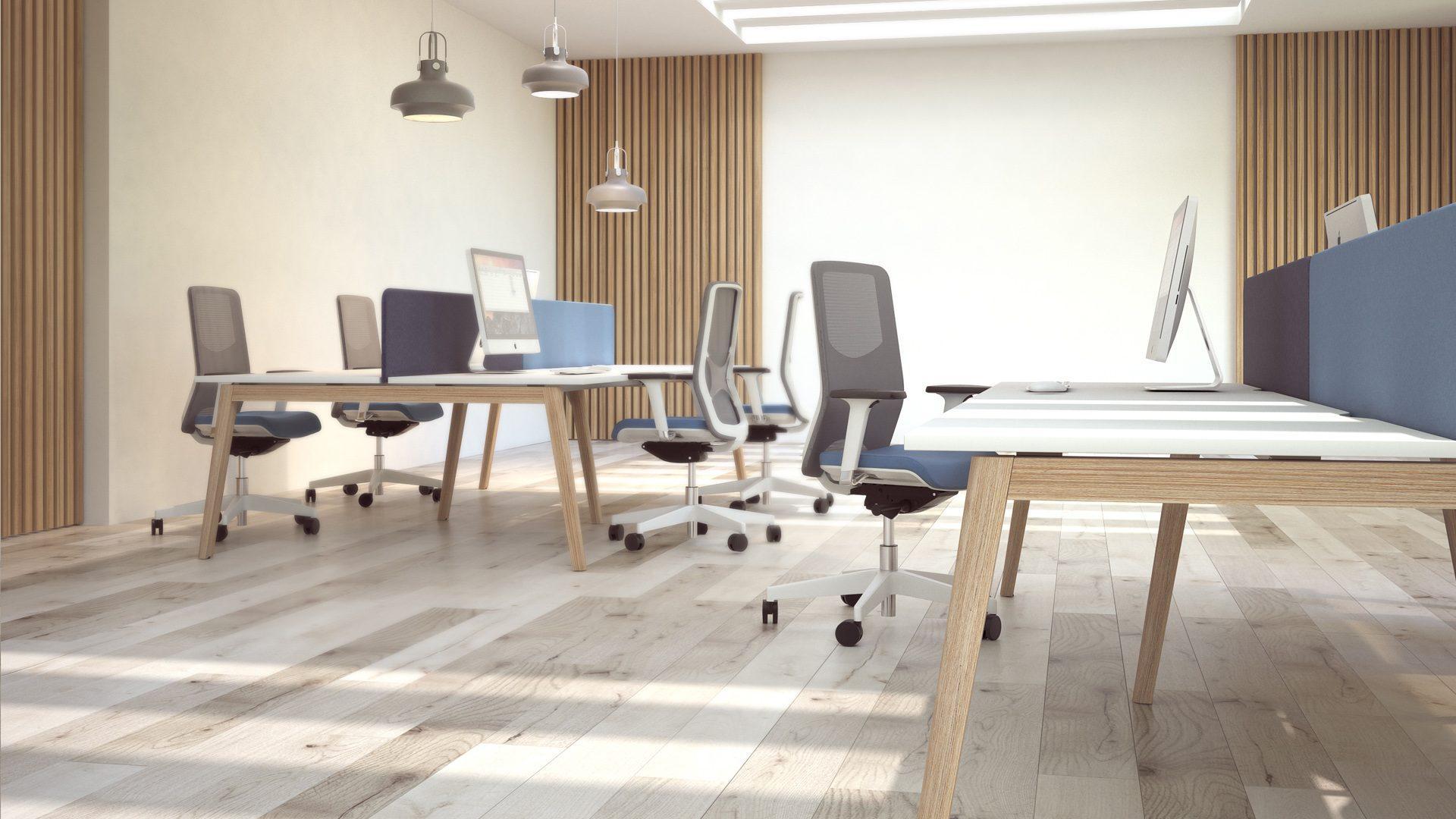 NOVA Wood darba galds ar ergonomiskiem krēsliem