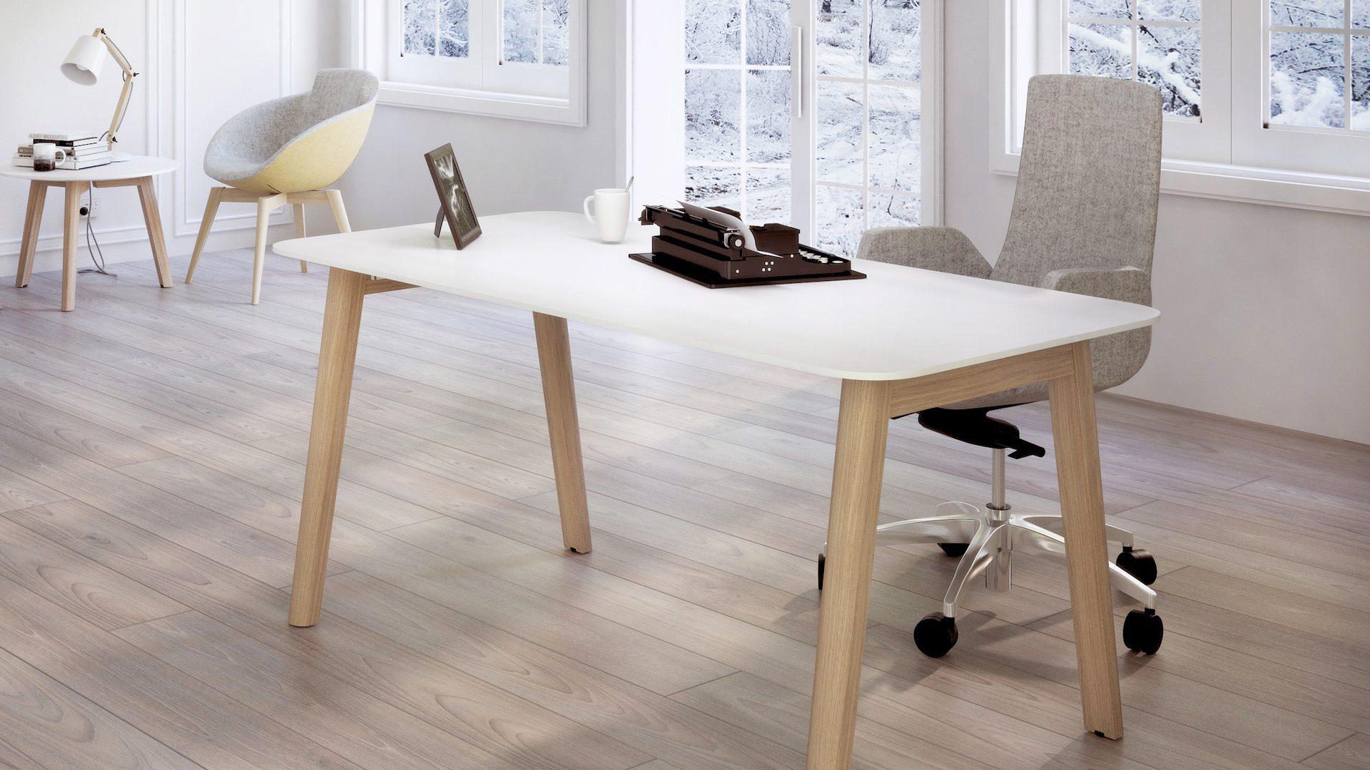 NOVA Wood darba galds un kafijas galdiņš