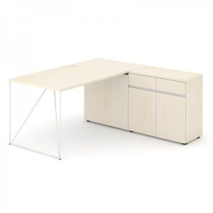 AIR biroja galds ar skapīti