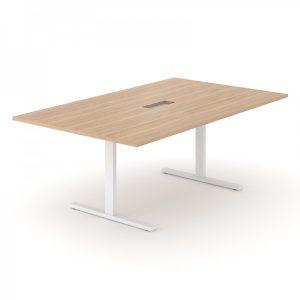 T-EASY apspriežu galds ar izgriezumu vadu kanālam galda virsmā