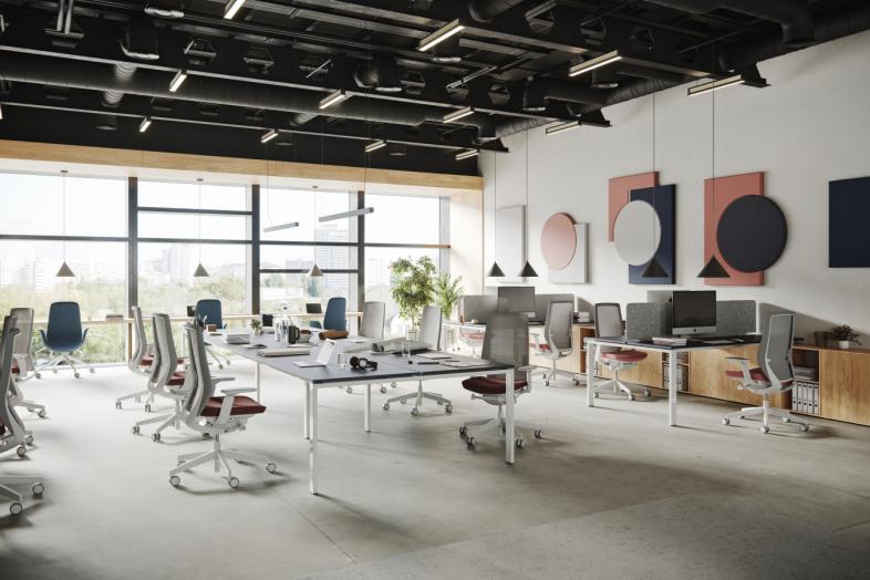 Accis Pro inovatīvais biroja krēsls dabra zonā