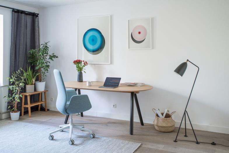 Ellie Pro darba krēsls mājas birojam ar piecu staru zvaigzni