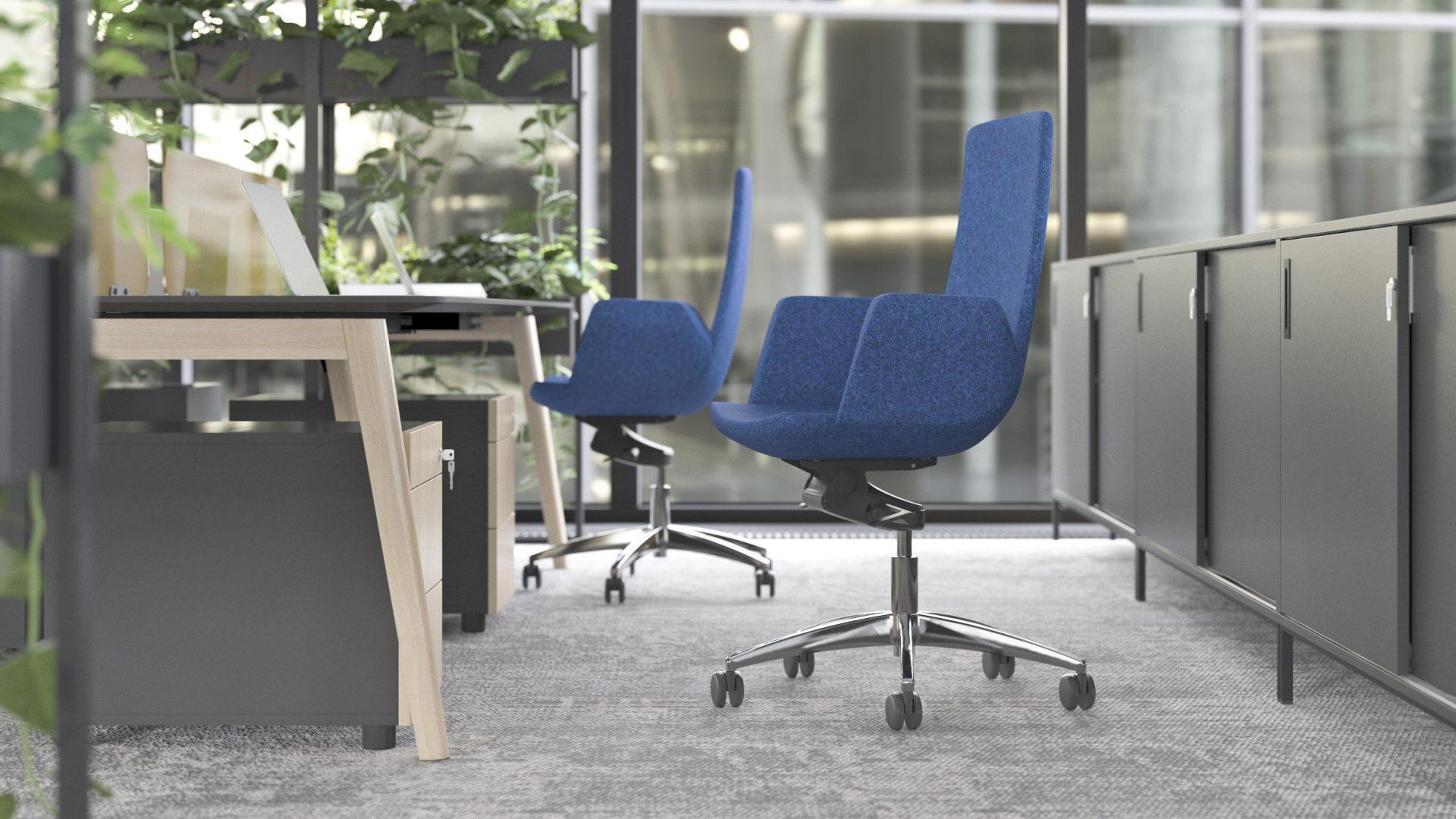Biroja krēsls NORTH CAPE ar taisnstūra formas roku balstiem