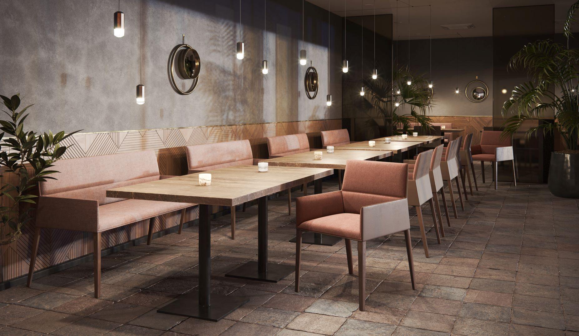 Gaisīgi dizaina dīvāni un apmeklētāju krēsli mājām, viesnīcām, kafejnīcām un restorāniem