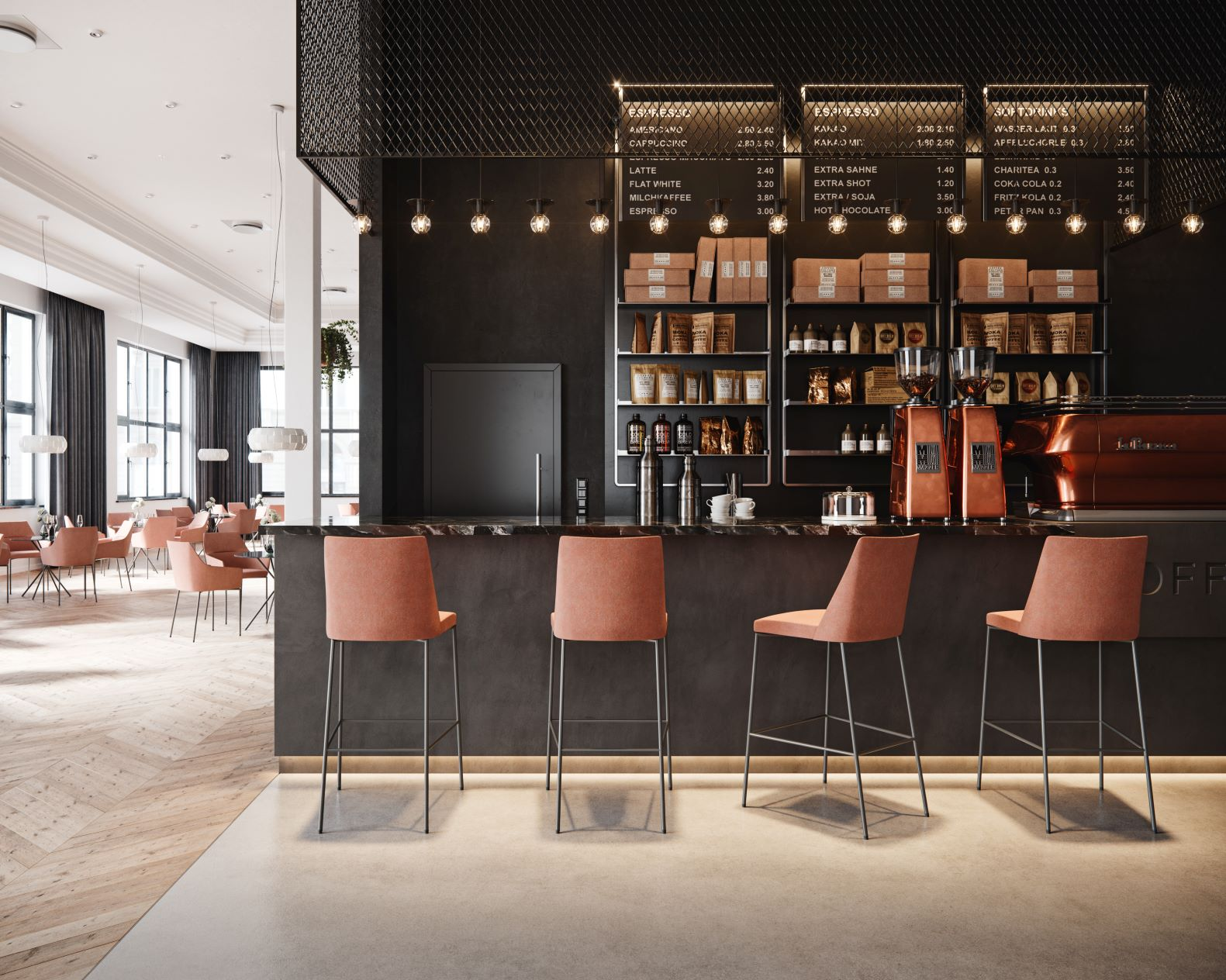Mīkstie bāra, apmeklētāju un konferenču krēsli krēsli mājai, viesnīcai un birojam no Profim