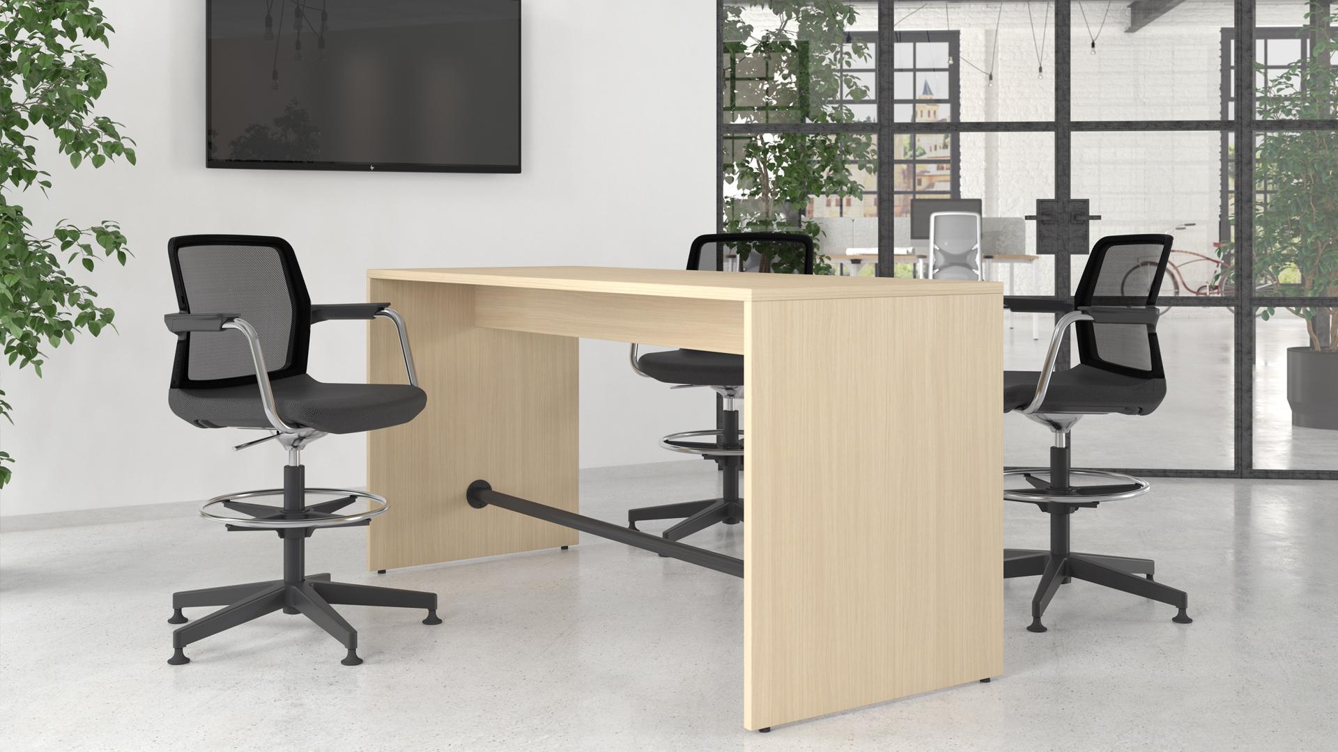 Light augstais galds atpūtas telpām ar augsto apmeklētāju krēslu WIND