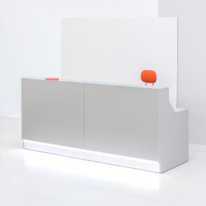 Mūsdienīga biroja lete LINEA ar mainīgām konfigurācijām un led gaismu joslu
