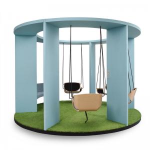 Aktīvā darba vieta - šūpoles Social Swing darbinieku iedvesmai un motivēšanai