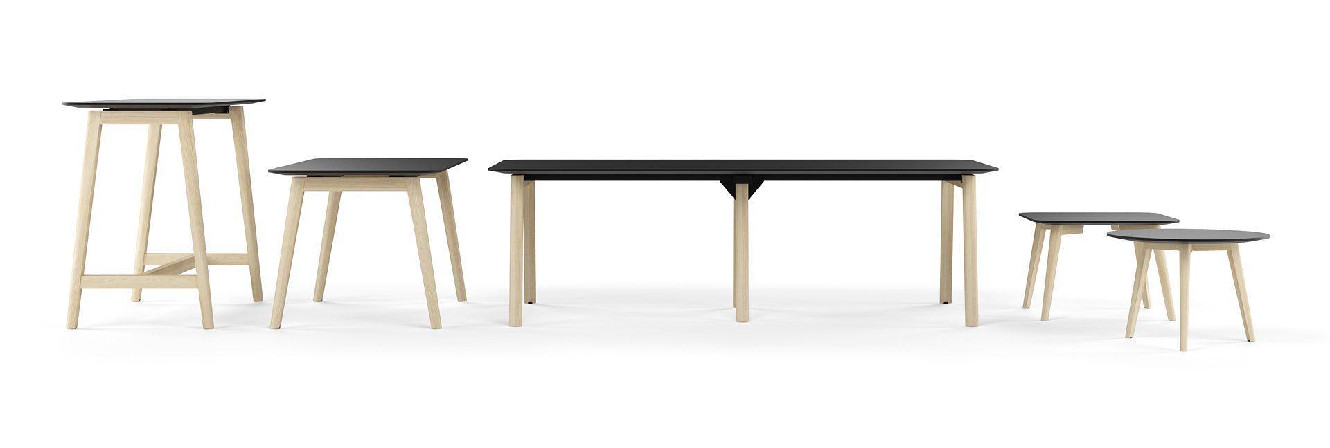 Sapulču galds NOVA Wood birojiem un kopstrādes telpām