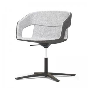 TANGO apspriežu krēsls ar roku balstiem un ar metāla vai koka kājām