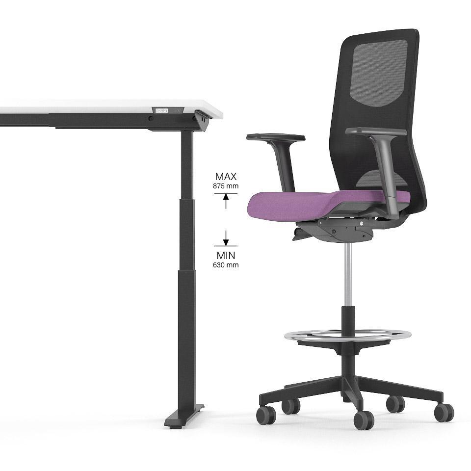 WIND krēsli piedāvā ergonomisku īpašību un funkcionalitātes apvienojumu. Augstais biroja krēsls ar muguras balstu der ilgstošai sēdēšanai.
