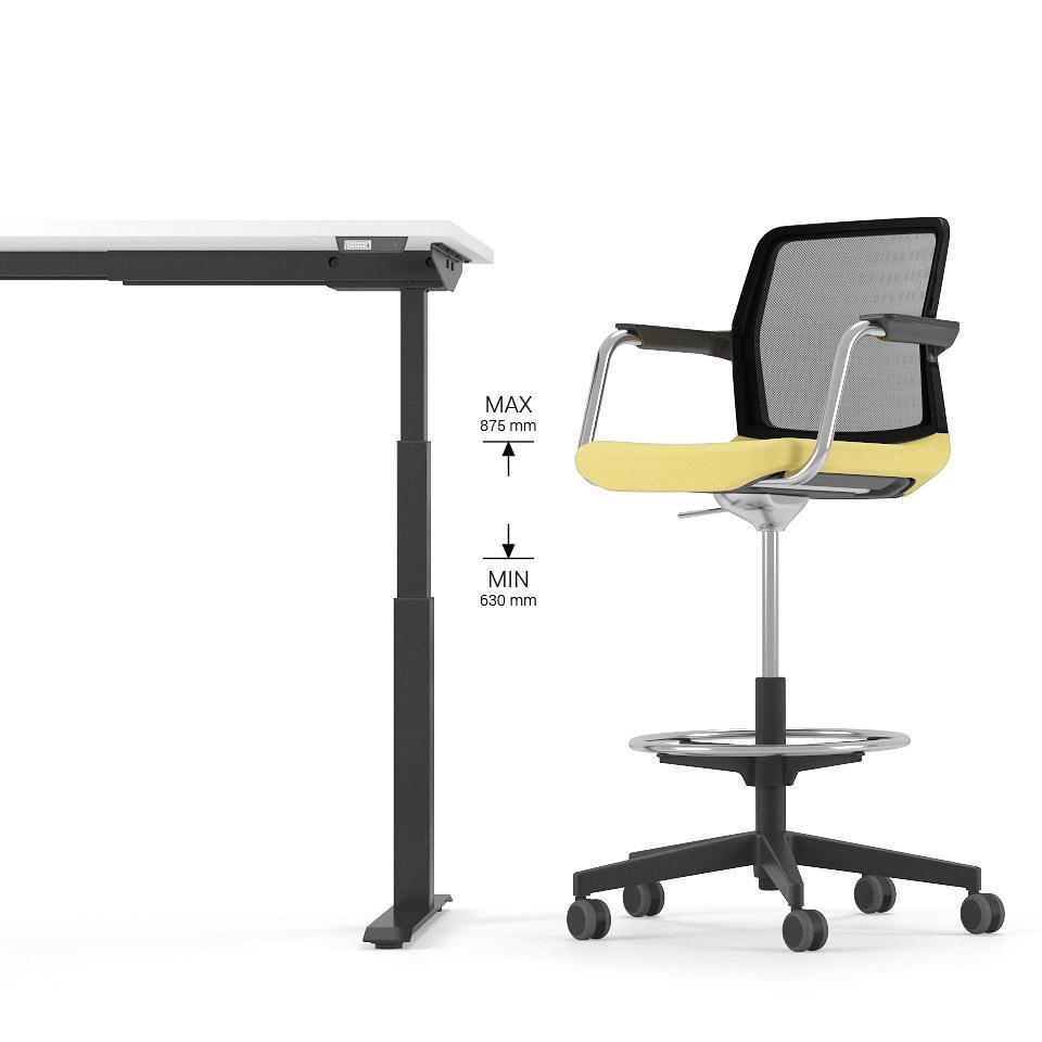 WIND krēsli piedāvā ergonomisku īpašību un funkcionalitātes apvienojumu. Augstais biroja krēsls ar zemu atzveltni der ilgstošai sēdēšanai.