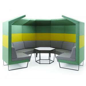 Cave modulārs dīvāns ar akustisko sienu