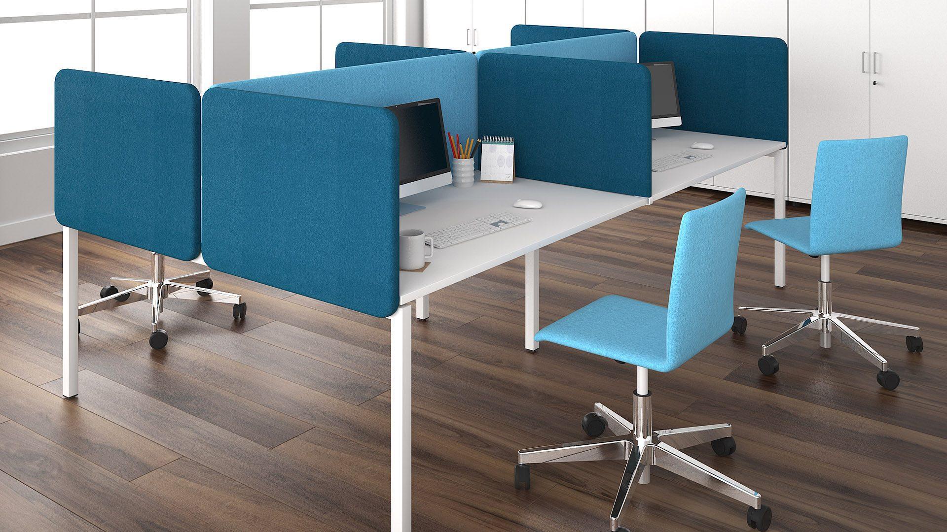 MOON biroja krēsls un TOP 530 akustiskās starpsienas