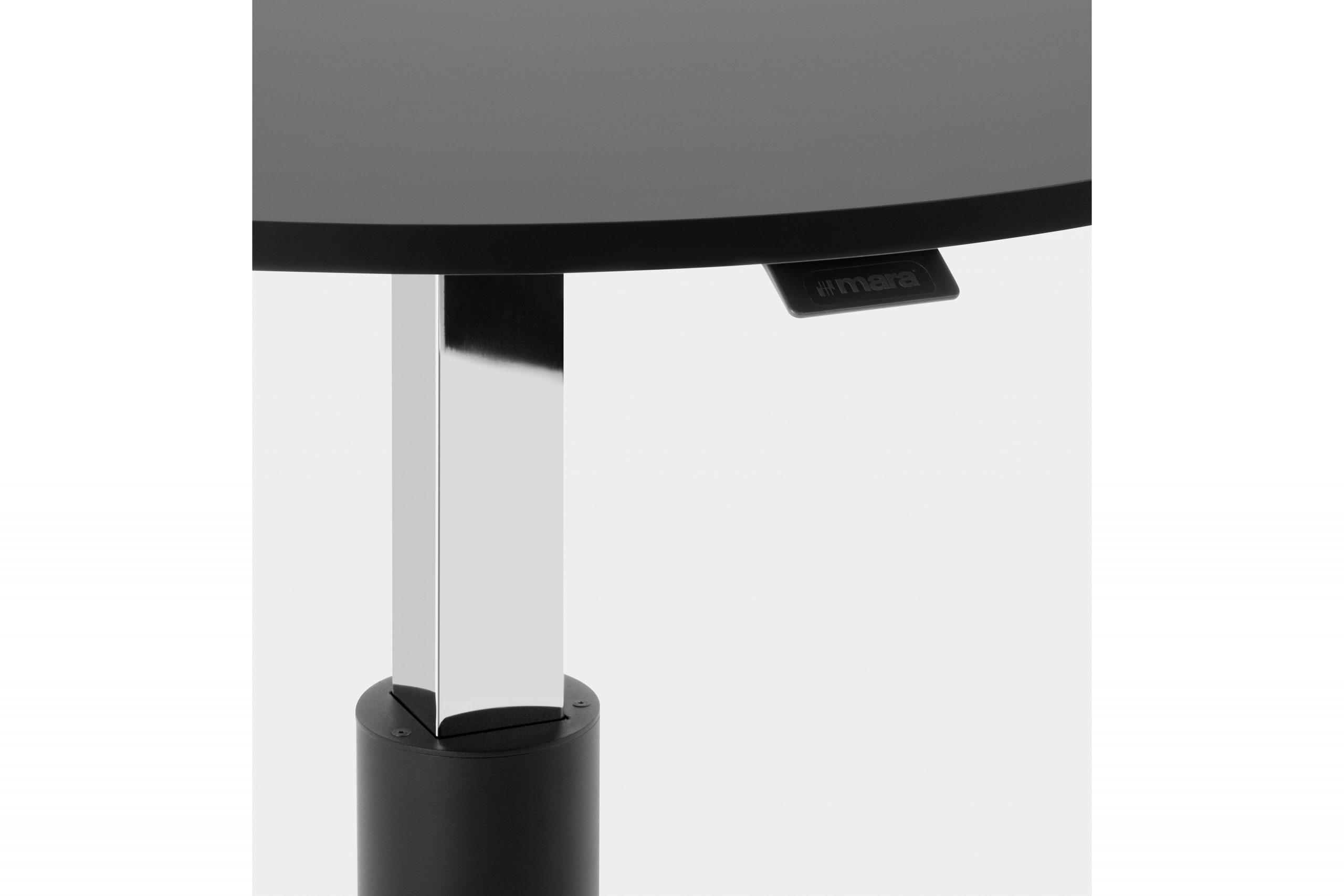 Follow augstumā regulējams kafijas galds ar apaļas formas virsmu